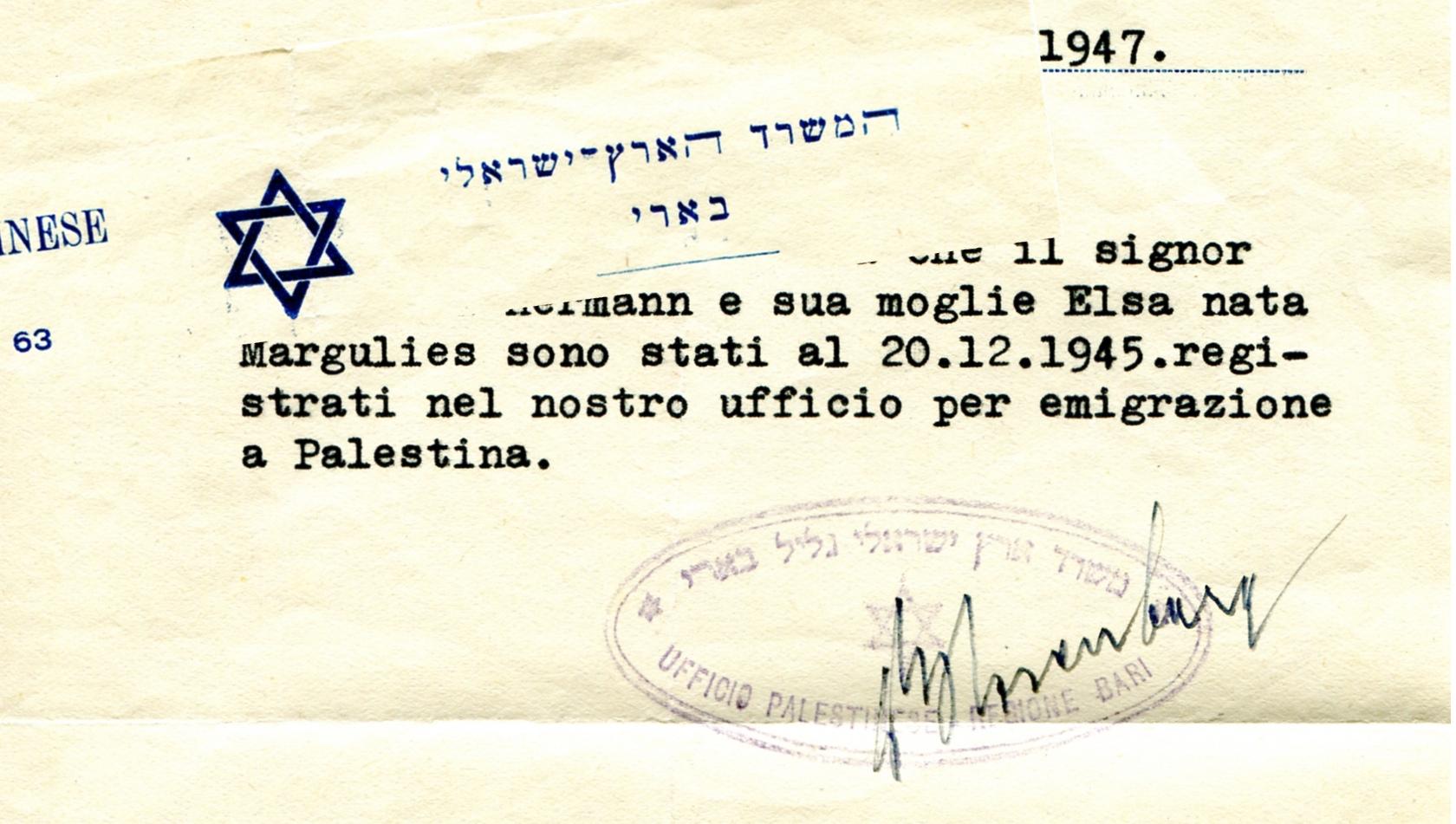Bari - Zionist Organizzation Office