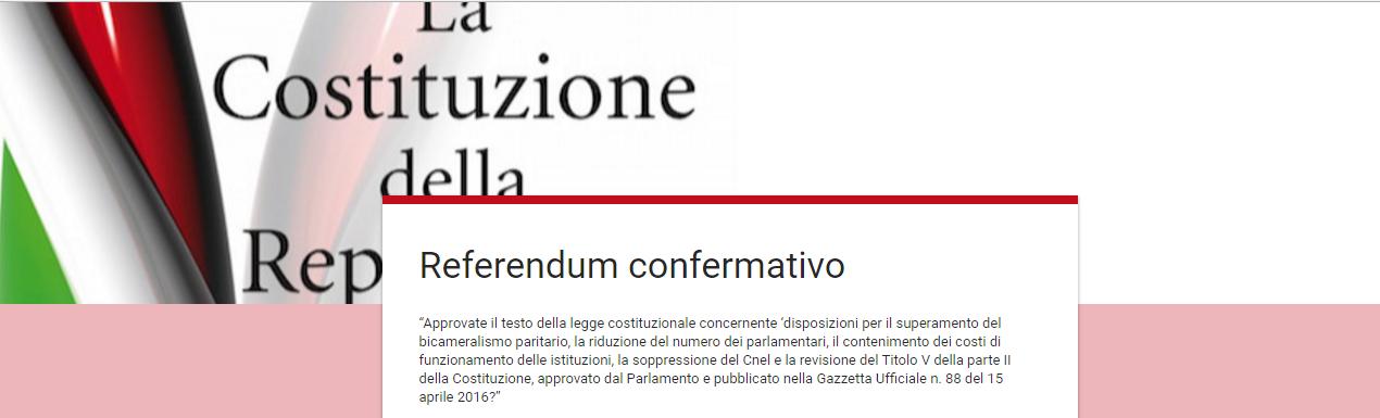 Sondaggio referendum costituzionale